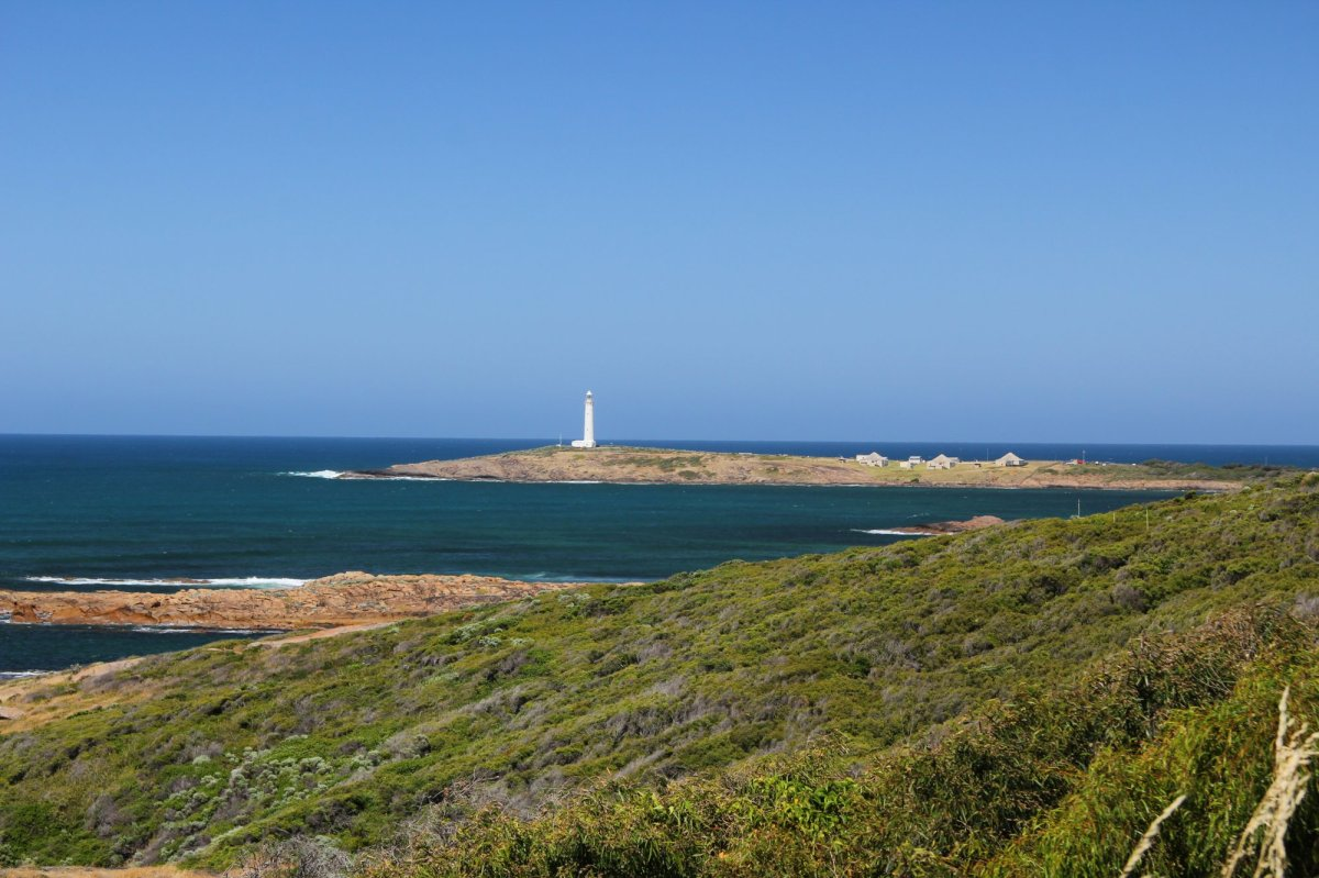 Cape Leeuwin Lighthouse.  Australia's south west corner.