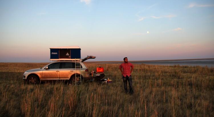 Camping poser!  Camping in northern Kazakhstan.  Mountainous it isn't
