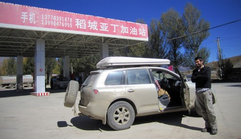 Chinese fuel station.  In fact right now I'm on the laptop trying to resolve the diesel particulate filter warnings.  Happy days.